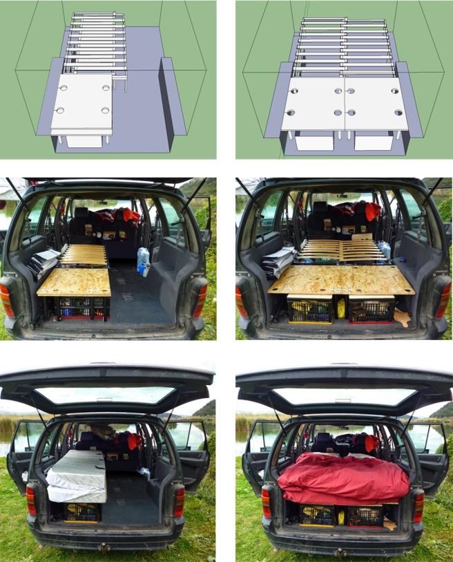 am nagement d un monospace pour le voyage cl mence mah. Black Bedroom Furniture Sets. Home Design Ideas